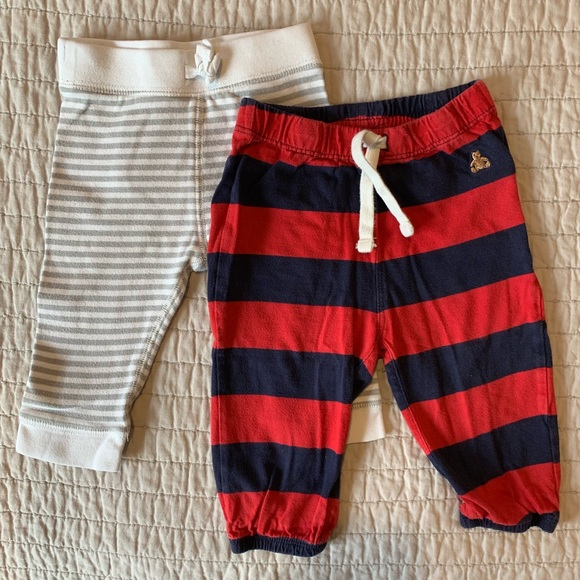 Baby Gap Red Joggers With Logo 6-12 Months Bottoms